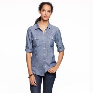 J Crew Factory The Perfect Chambray Shirt